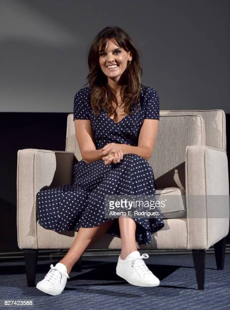 Actor Frankie Shaw of 'SMILF' speaks onstage at the Showtime portion of the 2017 Summer Television Critics Association Press Tour on August 7 2017 in...