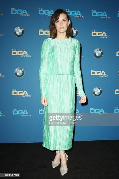 Actor Frankie Shaw poses in the press room during the 70th Annual Directors Guild Of America Awards at The Beverly Hilton Hotel on February 3 2018 in...