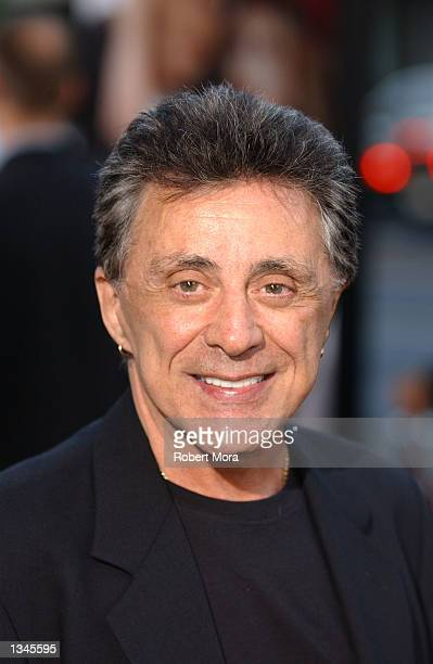 "Actor Frankie Valli attends the premiere of ""Serving Sara"" at the Samuel Goldwyn Theater on August 20, 2002 in Beverly Hills, California. The film..."