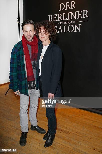 Actor Franz Dinda and actress Bibiana Beglau at 'Der Berliner Fotografie Salon Edition 1' on April 29 2016 in Berlin Germany