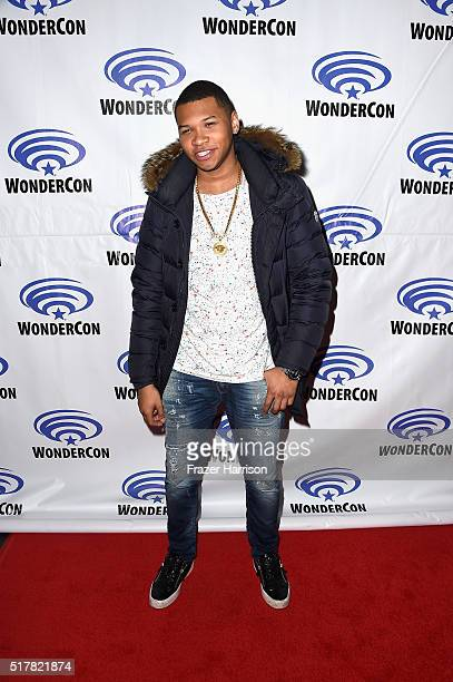 Actor Franz Drameh attends DC's Legends of Tomorrow panel at WonderCon 2016 at Los Angeles Convention Center on March 27 2016 in Los Angeles...