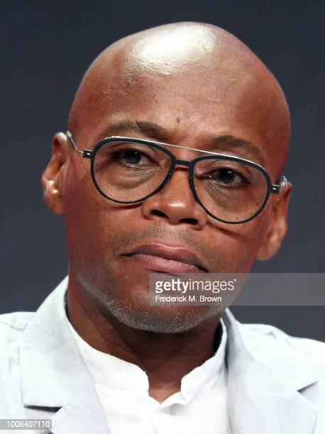 Actor Fraser James of the television show Origin for the YouTube Network segment speaks during the Summer 2018 Television Critics Association Press...