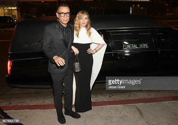 Actor Fred Armisen and actress Natasha Lyonne attend AMC Networks Emmy Party at BOA Steakhouse on September 18, 2016 in West Hollywood, California.