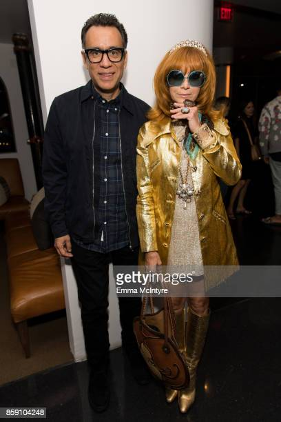 Actor Fred Armisen and Linda Ramone attend 'Women Under the Influence hosts a special screening of Natasha Lyonne's directorial debut for Kenzo with...