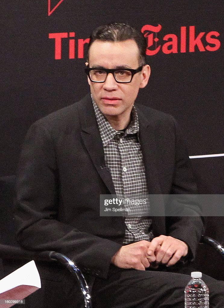 Actor Fred Armisen attends New York Times TimesTalks Presents: 'Portlandia' at TheTimesCenter on January 28, 2013 in New York City.