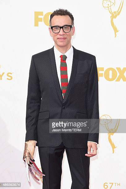 Actor Fred Armisen attends the 67th Annual Primetime Emmy Awards at Microsoft Theater on September 20 2015 in Los Angeles California