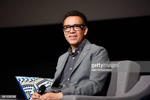 Actor Fred Armisen speaks onstage during the FYC event for IFC's Brockmire and Documentary Now at Saban Media Center on May 31 2017 in North...