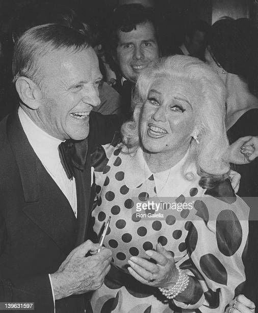 Actor Fred Astaire and actress Ginger Rogers attend Tribute Gala Honoring Fred Astaire on April 30 1973 at Lincoln Center in New York City