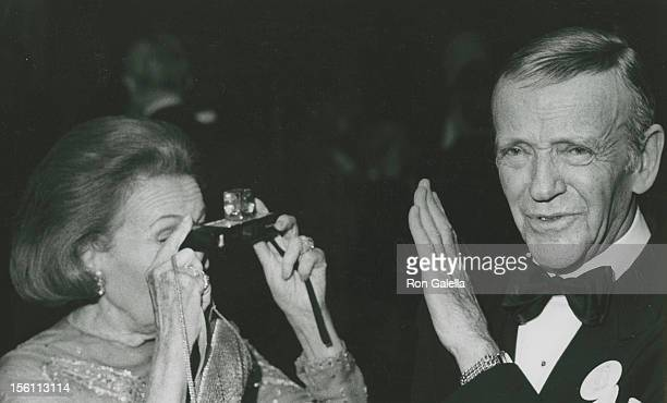 Actor Fred Astaire and dancer Adele Astaire attending 'Grand Opening of the Uris Theater' on November 9 1972 in New York City New York