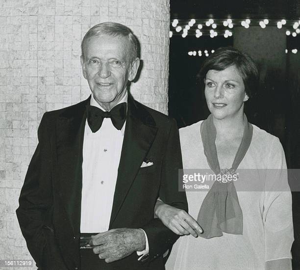 Actor Fred Astaire and daughter Ava Astaire attending 'Gala Honoring Fred Astaire' on February 4 1978 at the Century Plaza Hotel in Century City...