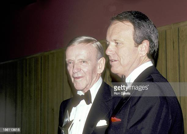 Actor Fred Astaire and Producer George Stevens Jr attend the Ninth Annual American Film Institute Lifetime Achievement Award Salute to Fred Astaire...