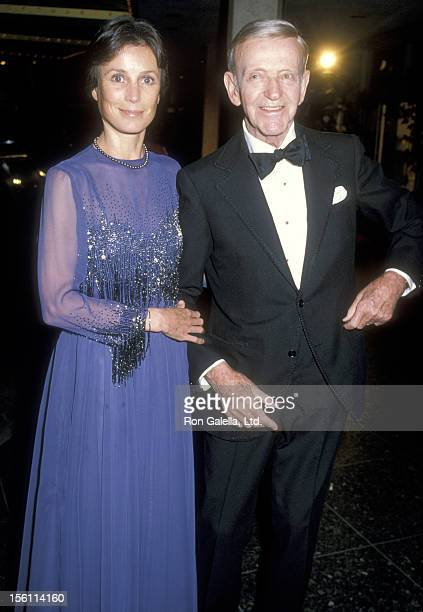 Actor Fred Astaire and wife Robyn Smith attend the 12th Annual American Film Institute Lifetime Achievement Award Salute to Lillian Gish on March 1...