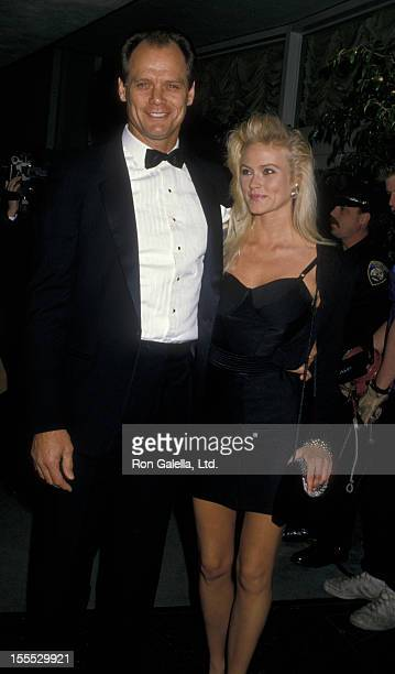Actor Fred Dryer and wife Tracy Vaccaro attend 45th Annual Golden Globe Awards on January 23 1988 at the Beverly Hilton Hotel in Beverly Hills...