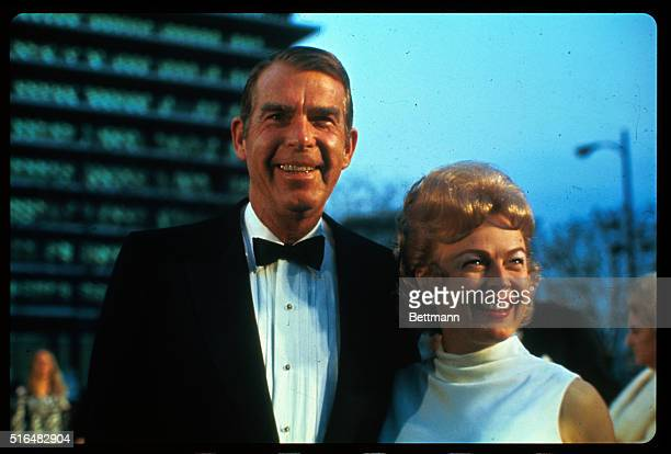 Actor Fred MacMurray and his wife, former actress June Haver, arrive at the Academy Awards presentations.