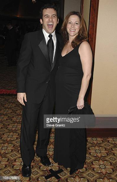 Actor Fred Savage and his wife Jennifer Lynn Stone arrive at the 60th annual DGA Awards held at the Hyatt Regency Century Plaza Hotel on January 26...