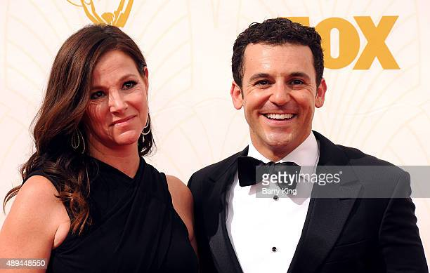 Actor Fred Savage and Jennifer Lynn Stone arrive at the 67th Annual Primetime Emmy Awards at the Microsoft Theater on September 20 2015 in Los...