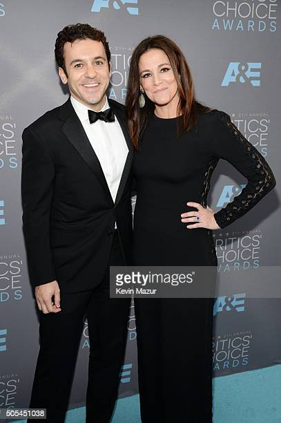 Actor Fred Savage and Jennifer Lynn Stone attend the 21st Annual Critics' Choice Awards at Barker Hangar on January 17 2016 in Santa Monica California