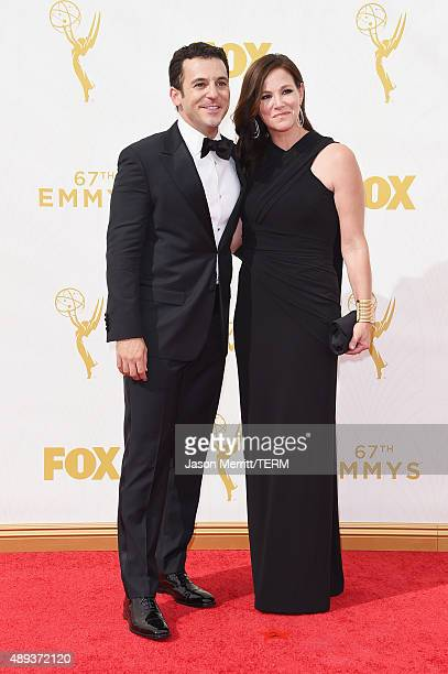 Actor Fred Savage and Jennifer Lynn Stone attend the 67th Annual Primetime Emmy Awards at Microsoft Theater on September 20 2015 in Los Angeles...