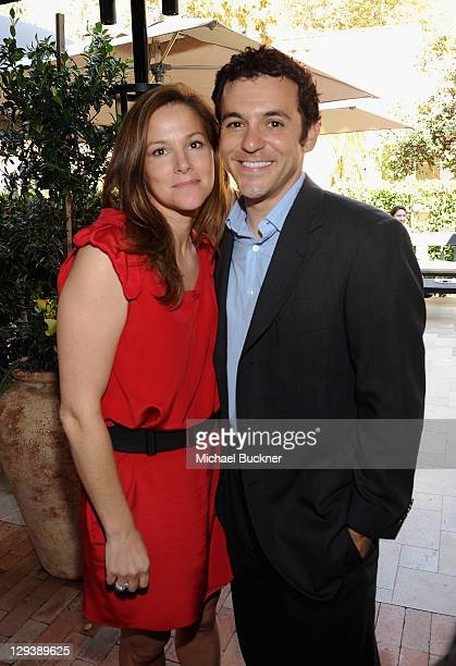 Actor Fred Savage and Jennifer Lynn Stone attend The First Annual Los Angeles Food Wine Hosts Wolfgang Puck's Sunday Brunch Charity Auction at...