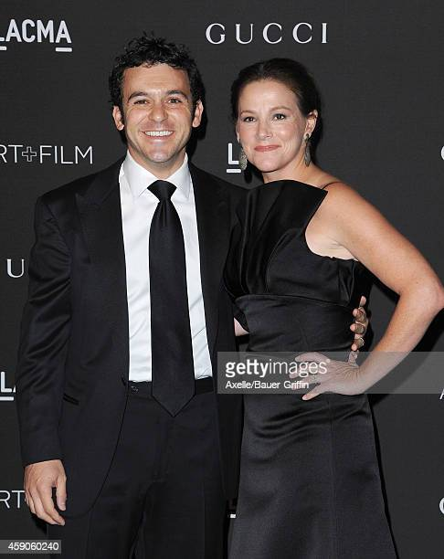 Actor Fred Savage and Jennifer Stone Savage attend the 2014 LACMA Art Film Gala Honoring Barbara Kruger And Quentin Tarantino Presented By Gucci at...