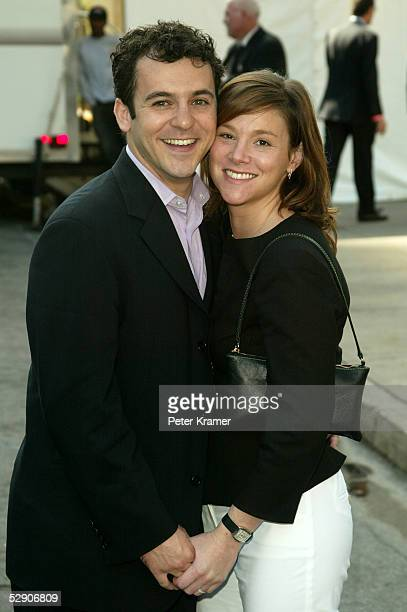 Actor Fred Savage and wife Jennifer Stone attend the ABC upfront at Lincoln Center on May 17 2005 in New York City