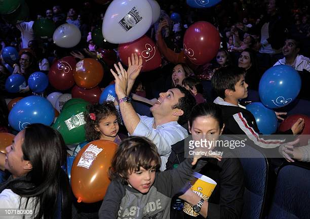 Actor Fred Savage his wife Jennifer Lynn Stone and children Oliver and Lily attend YO GABBA GABBA @ KIA PRESENTS YO GABBA GABBA LIVE THERE'S A PARTY...