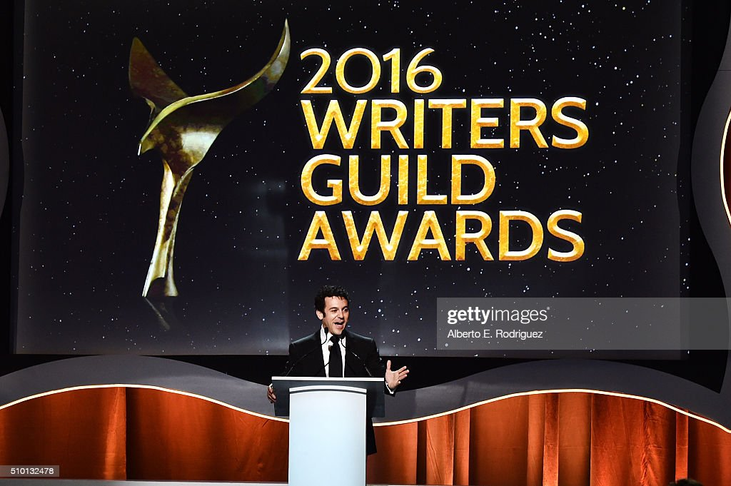 Actor Fred Savage onstage during the 2016 Writers Guild Awards at the Hyatt Regency Century Plaza on February 13, 2016 in Los Angeles, California.