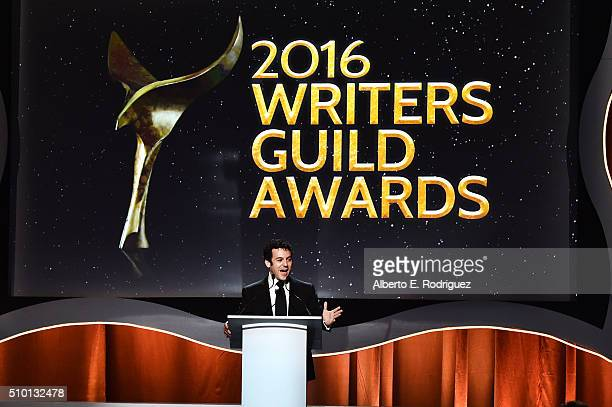 Actor Fred Savage onstage during the 2016 Writers Guild Awards at the Hyatt Regency Century Plaza on February 13 2016 in Los Angeles California