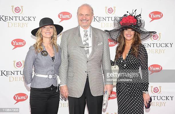 Actor Fred Thompson his wife Jeri Kehn and a guest attend the 137th Kentucky Derby at Churchill Downs on May 7 2011 in Louisville Kentucky