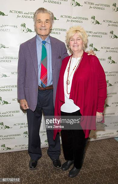 Actor Fred Willard and his wife Mary Willard attend the 'Joy to the Animals' luncheon at Universal City Hilton Towers on December 4 2016 in Universal...