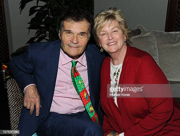 Actor Fred Willard and Mary Willard attend the 2010 Britweek Christmas Tea Party on December 11 2010 in Los Angeles California