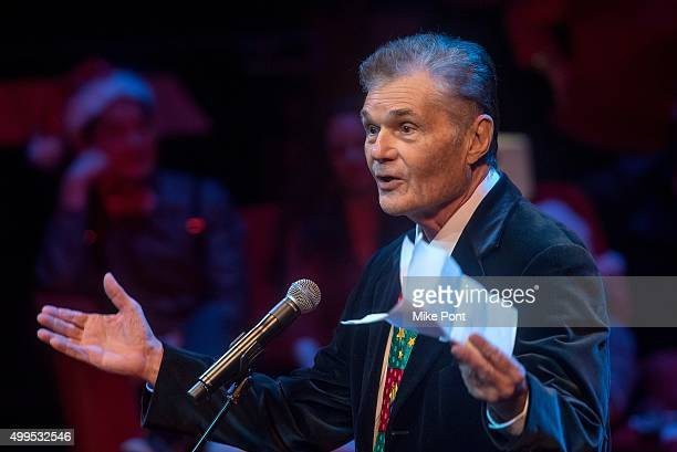 Actor Fred Willard performs during the Christmas Without Tears New York Concert at BAM Peter Jay Sharp Building on December 1 2015 in the Brooklyn...