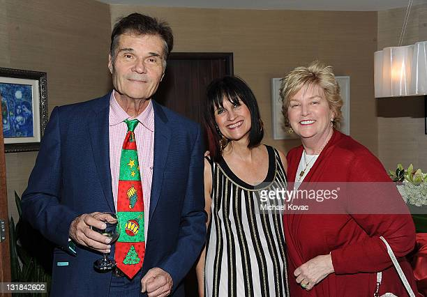 Actor Fred Willard Sharon HarrounPeirce and Mary Willard attend the 2010 Britweek Christmas Tea Party on December 11 2010 in Los Angeles California