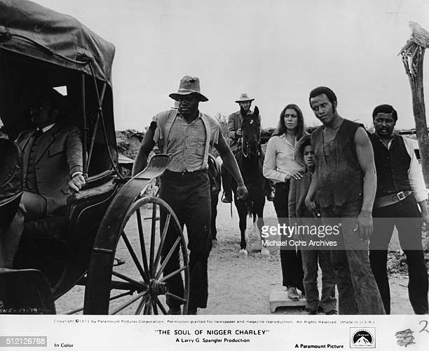 Actor Fred Williamson with in a scene from the movie The Soul Of Nigger Charley with Kirk Calloway Denise Nicholas and D'Urville Martin Octrober 4...
