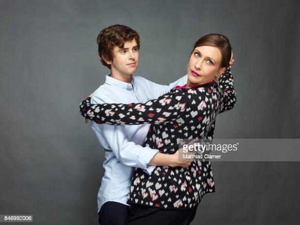 Actor Freddie Highmore and actress Vera Farmiga and from 'Bates Motel' are photographed for Entertainment Weekly Magazine on July 22 2016 at Comic...