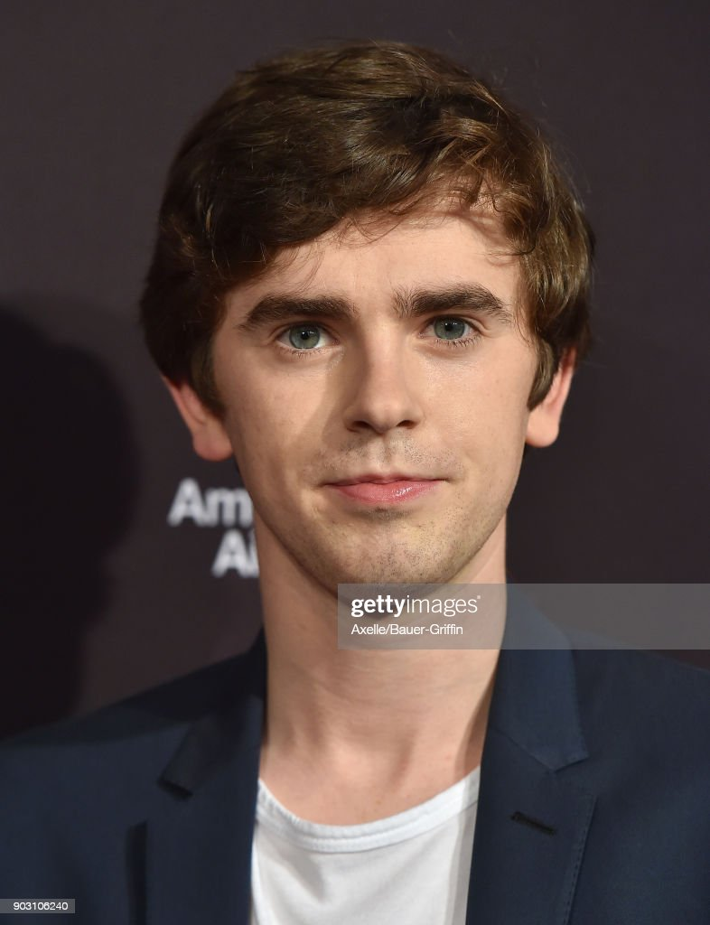 Actor Freddie Highmore arrives at The BAFTA Los Angeles Tea Party at Four Seasons Hotel Los Angeles at Beverly Hills on January 6, 2018 in Los Angeles, California.