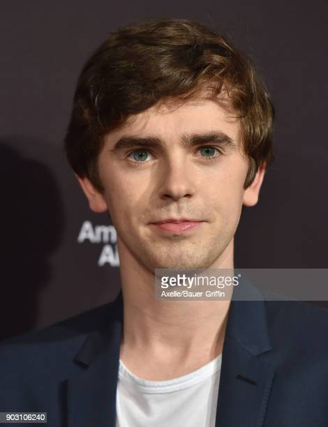 Actor Freddie Highmore arrives at The BAFTA Los Angeles Tea Party at Four Seasons Hotel Los Angeles at Beverly Hills on January 6 2018 in Los Angeles...