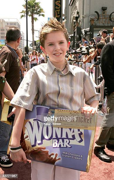Actor Freddie Highmore arrives at the Warner Bros Premiere of Charlie and the Chocolate Factory at the Grauman's Chinese Theatre on July 10 2005 in...