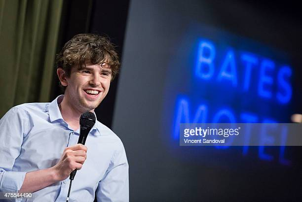 Actor Freddie Highmore attends a special screening and QA of Bates Motel hosted by The SAG Foundation at SAG Foundation Actors Center on June 1 2015...