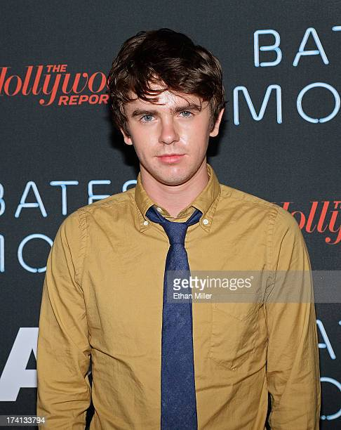 Actor Freddie Highmore attends AE's Bates Motel party during ComicCon International 2013 at Gang Kitchen on July 20 2013 in San Diego California