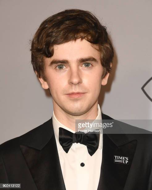 Actor Freddie Highmore attends the 19th Annual PostGolden Globes Party hosted by Warner Bros Pictures and InStyle at The Beverly Hilton Hotel on...