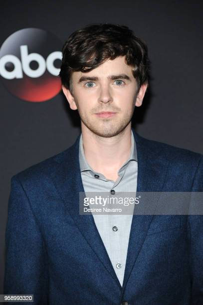 Actor Freddie Highmore attends the 2018 Disney ABC Freeform Upfront on May 15 2018 in New York City