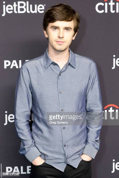 Actor Freddie Highmore attends the 2018 PaleyFest Los Angeles ABC's 'The Good Doctor' at Dolby Theatre on March 22 2018 in Hollywood California