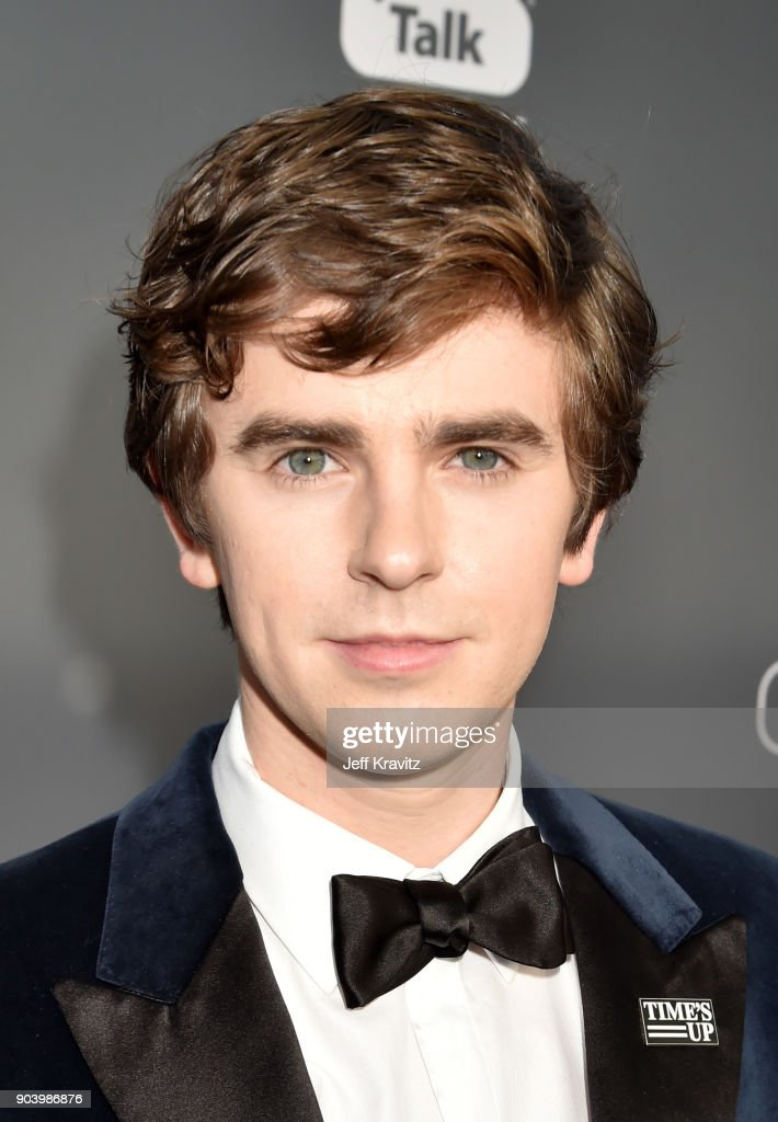 Actor Freddie Highmore attends The 23rd Annual Critics' Choice Awards at Barker Hangar on January 11, 2018 in Santa Monica, California.