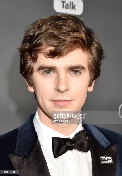 Actor Freddie Highmore attends The 23rd Annual Critics' Choice Awards at Barker Hangar on January 11 2018 in Santa Monica California