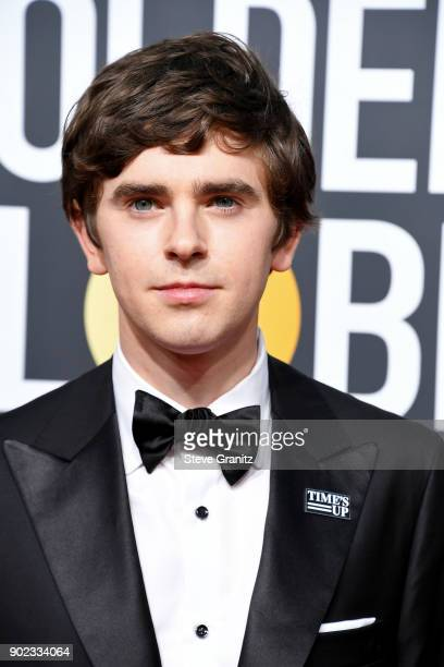 Actor Freddie Highmore attends The 75th Annual Golden Globe Awards at The Beverly Hilton Hotel on January 7 2018 in Beverly Hills California