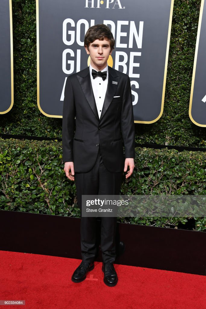Actor Freddie Highmore attends The 75th Annual Golden Globe Awards at The Beverly Hilton Hotel on January 7, 2018 in Beverly Hills, California.