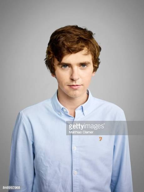 Actor Freddie Highmore from 'Bates Motel' is photographed for Entertainment Weekly Magazine on July 22 2016 at Comic Con in the Hard Rock Hotel in...