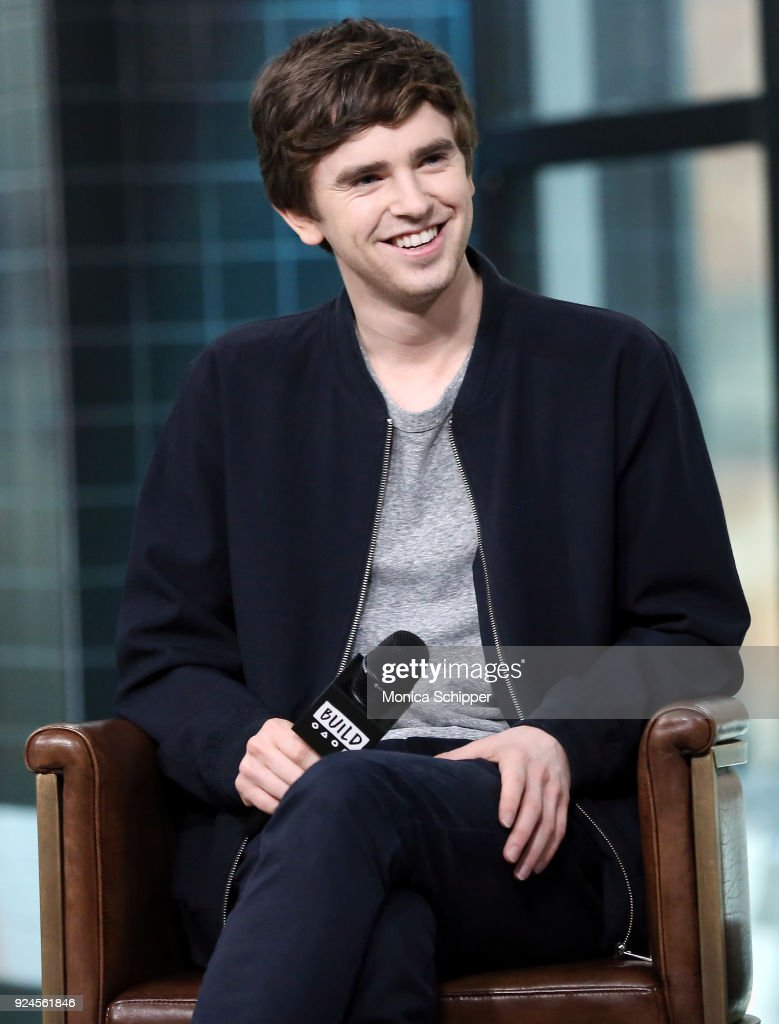 Actor Freddie Highmore visits Build Studio on February 26, 2018 in New York City.