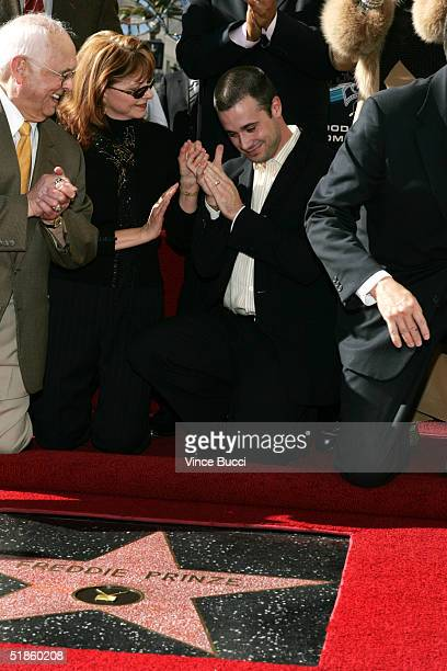Actor Freddie Prinze Jr and mother Cathy attend a posthumous star dedication ceremony for actorcomedian Freddie Prinze on the Hollywood Walk of Fame...